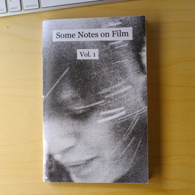 Cover of the zine Some Notes on Film